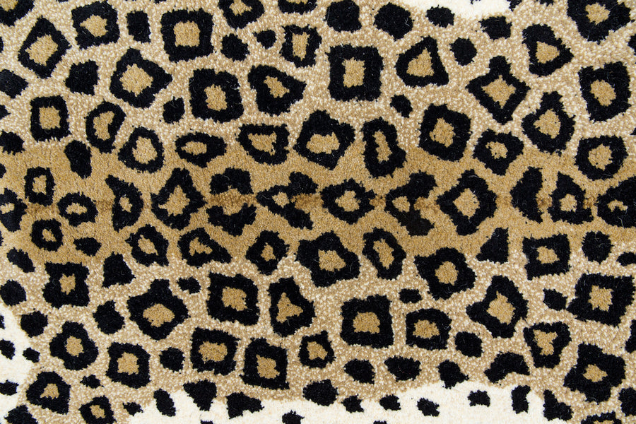 Furbish Studio - Looney Leopard Rug or Wall Hanging close up view