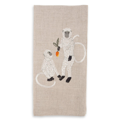 Mango Monkey Linen Towel
