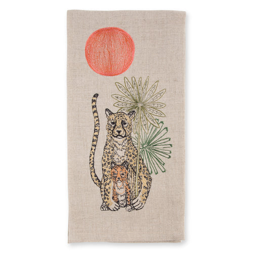 Cheetah Cub Linen Towel