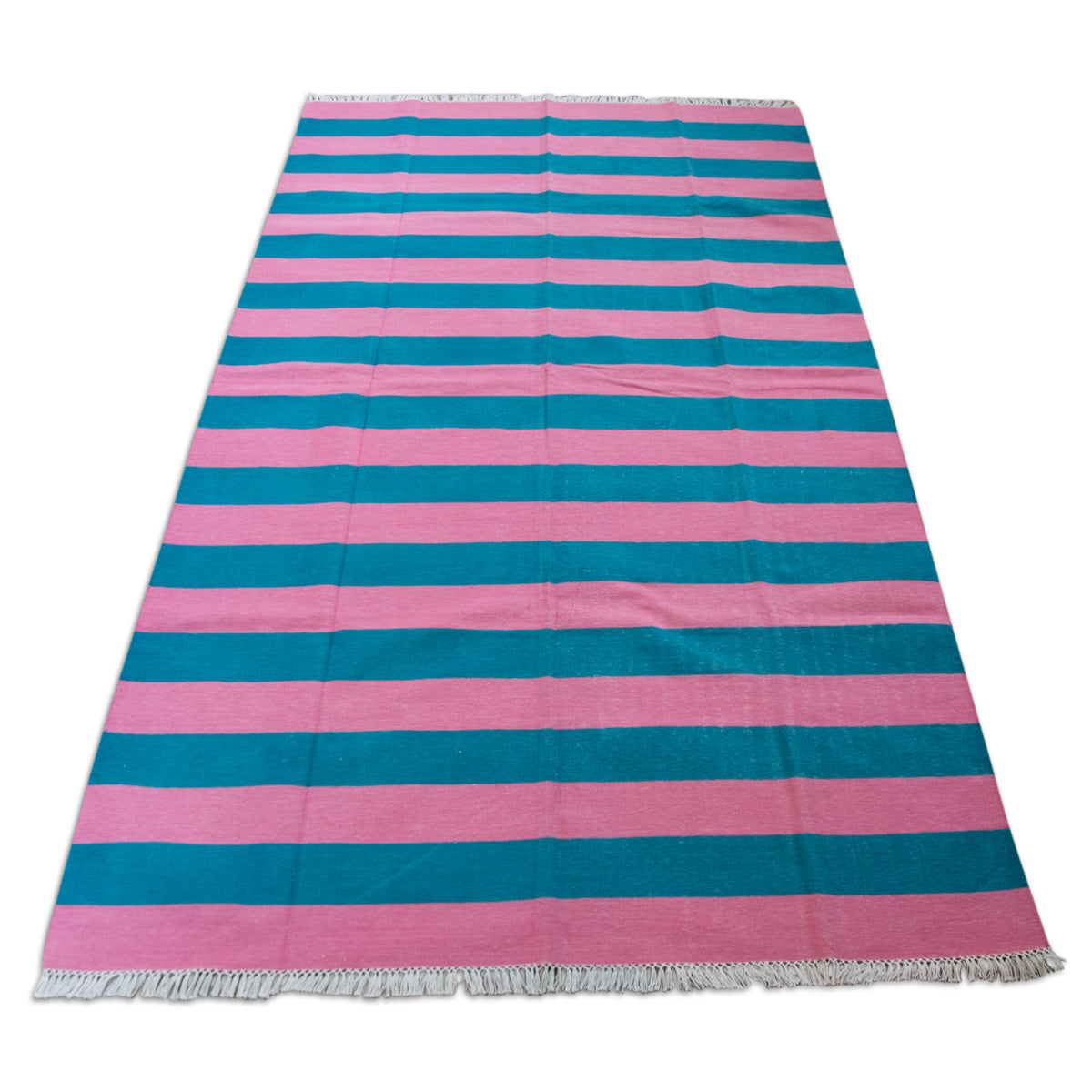 Striped Dhurrie Rug 5' x 8'