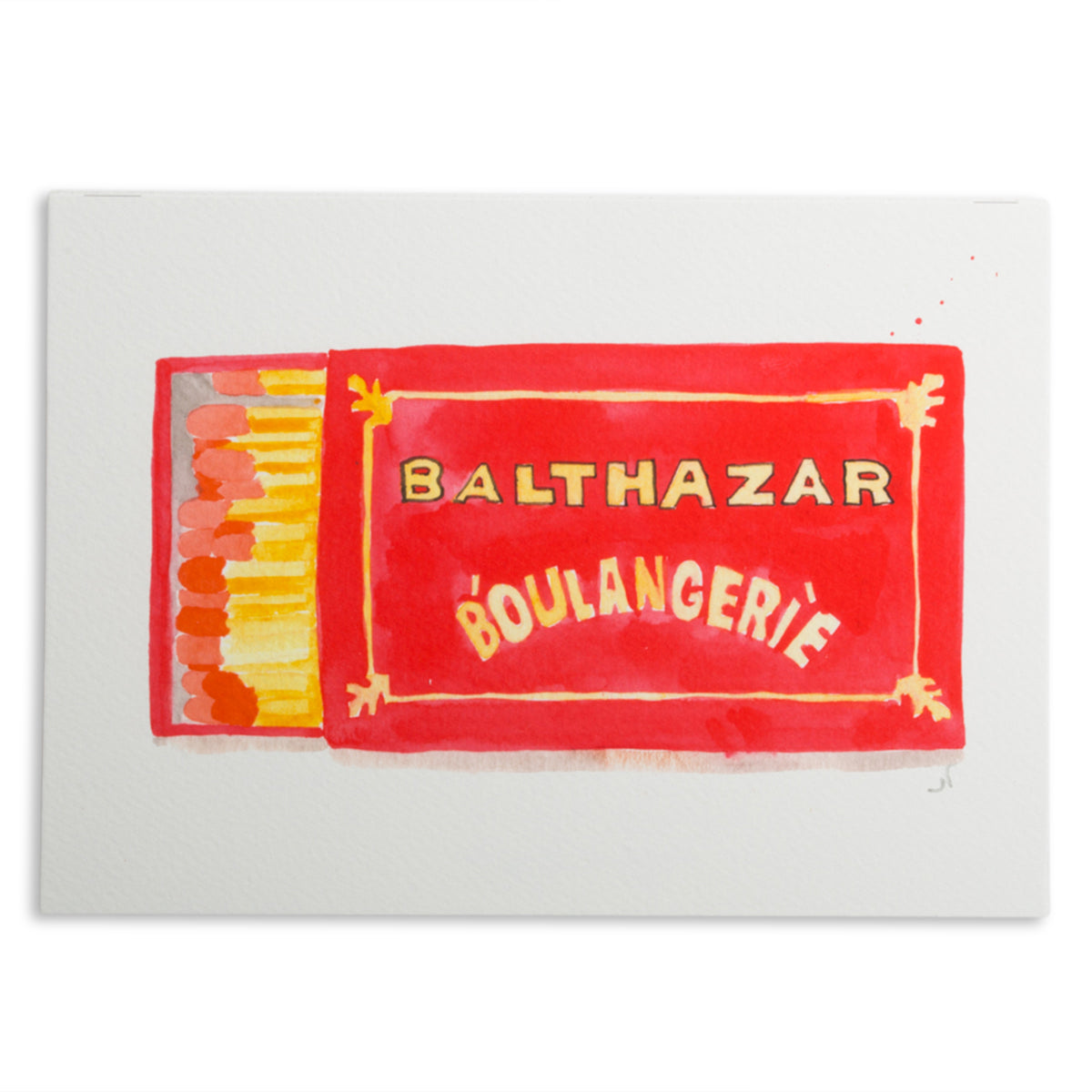 Balthazar Matchbook Watercolor Print