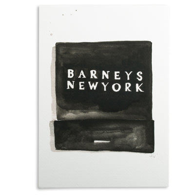 Barneys Matchbook Watercolor Print