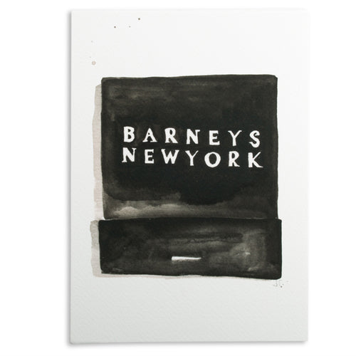 Furbish Studio - Barneys Matchbook Watercolor Print