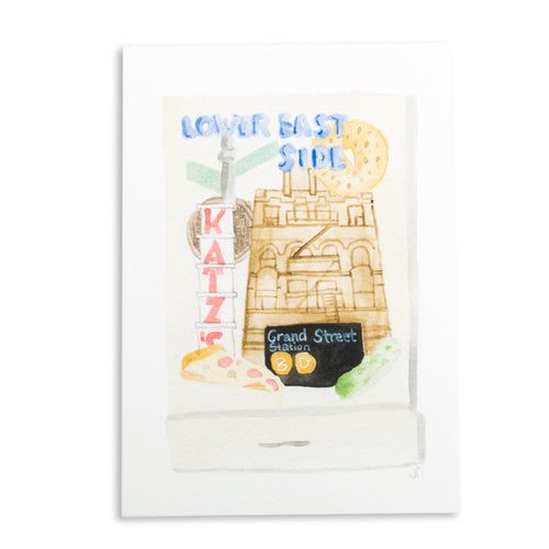 Furbish Studio - Lower East Side Grand Central Station Matchbook Watercolor Print large unframed
