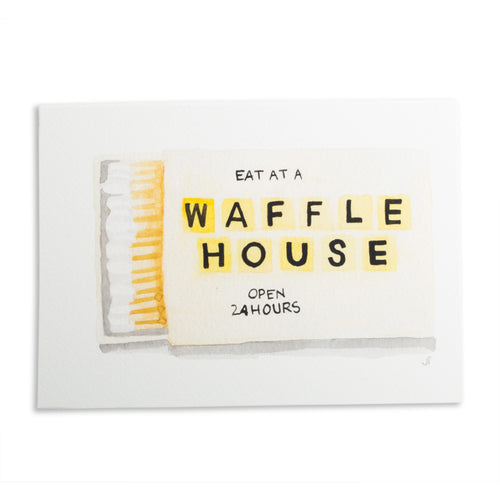 Waffle House Matchbook Watercolor Print