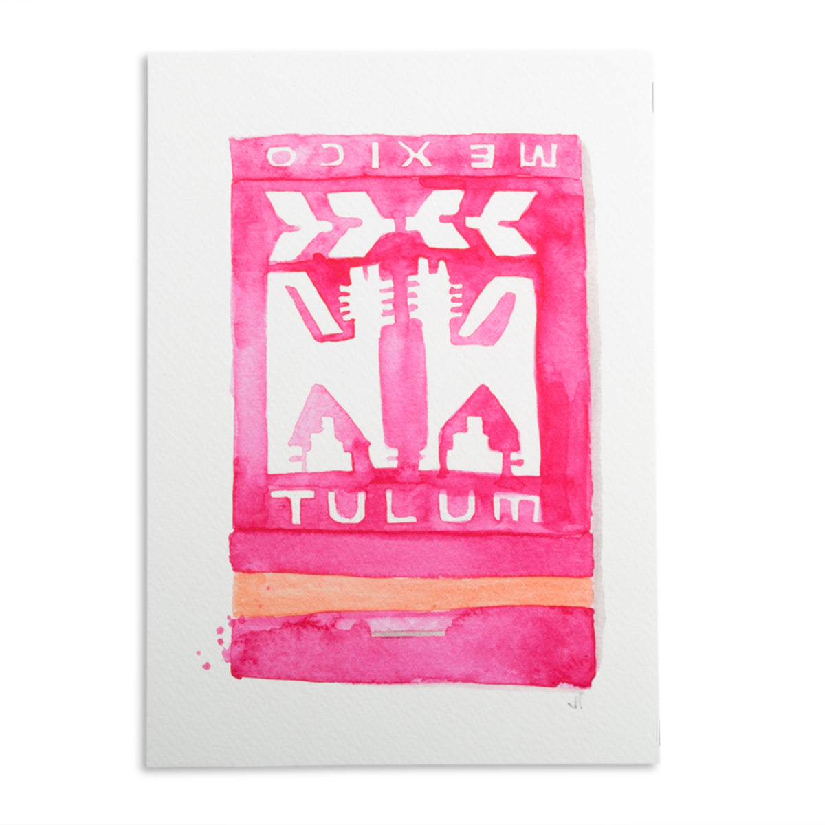 Tulum Matchbook Watercolor Print