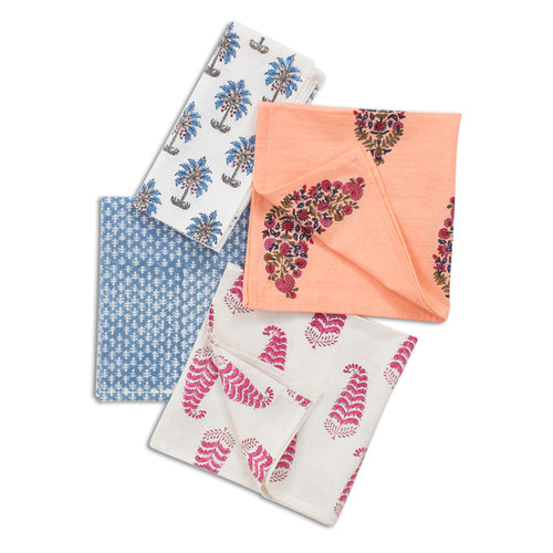 Blockprint Pattern Napkin Set