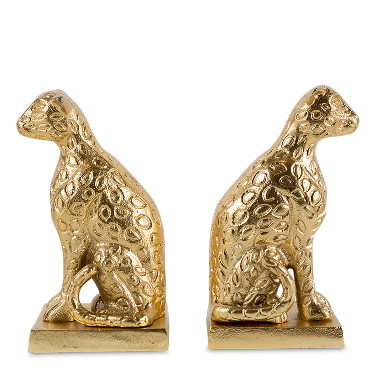 Furbish Studio - Gold Leopard Bookends back to back image