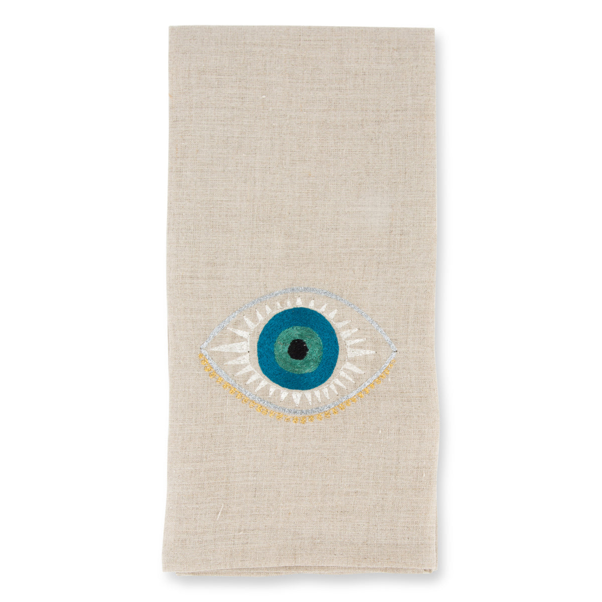 Evil Eye Linen Towel