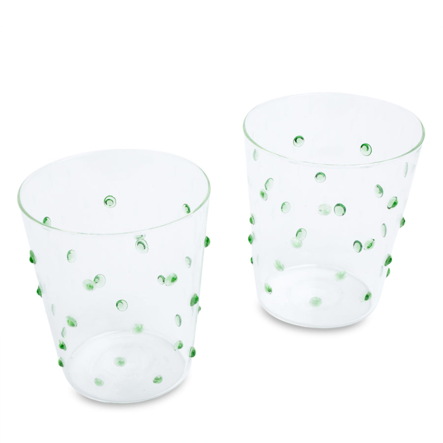 Furbish Studio - Tropez Glass Tumbler Set of 2 in Grass Green
