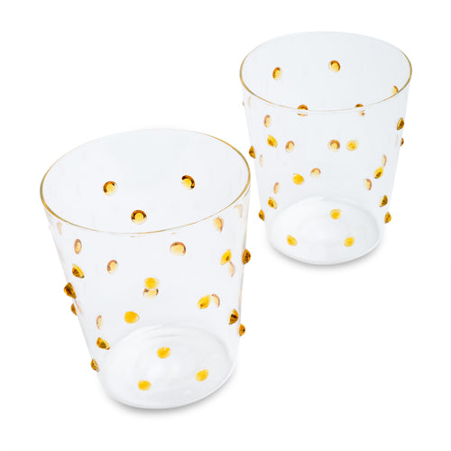 Furbish Studio - Tropez Glasses Set of 2 in Lemon
