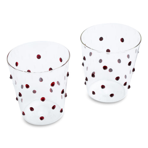 Furbish Studio -Tropez Glasses in Cherry shown as a pair