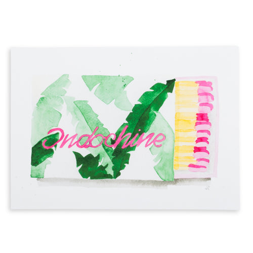 Indochine Matchbook Watercolor Print