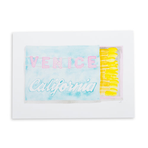 Venice Matchbook Watercolor Print