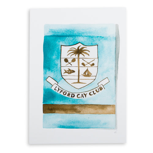 Lyford Cay Matchbook Watercolor Print