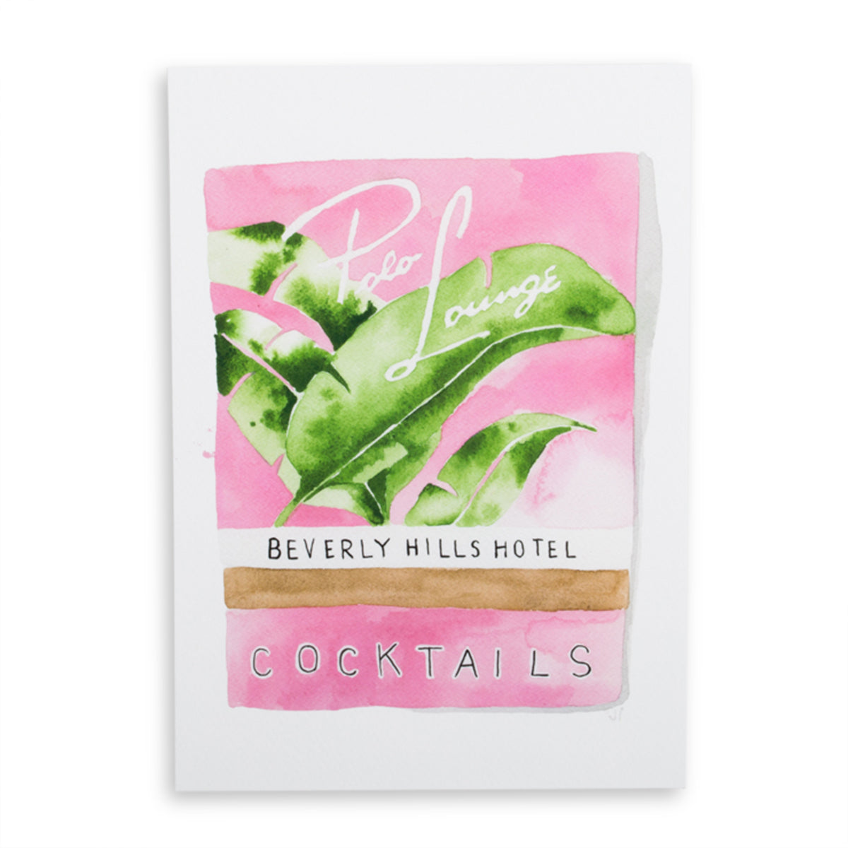 Beverly Hills Hotel Matchbook Watercolor Print