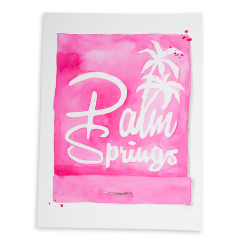 Furbish Studio - Palm Springs Matchbook Watercolor Print large unframed