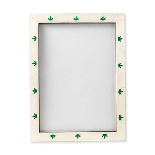 Furbish Studio - High Times Frame 5 x 7 green 5 lobed leaves front view