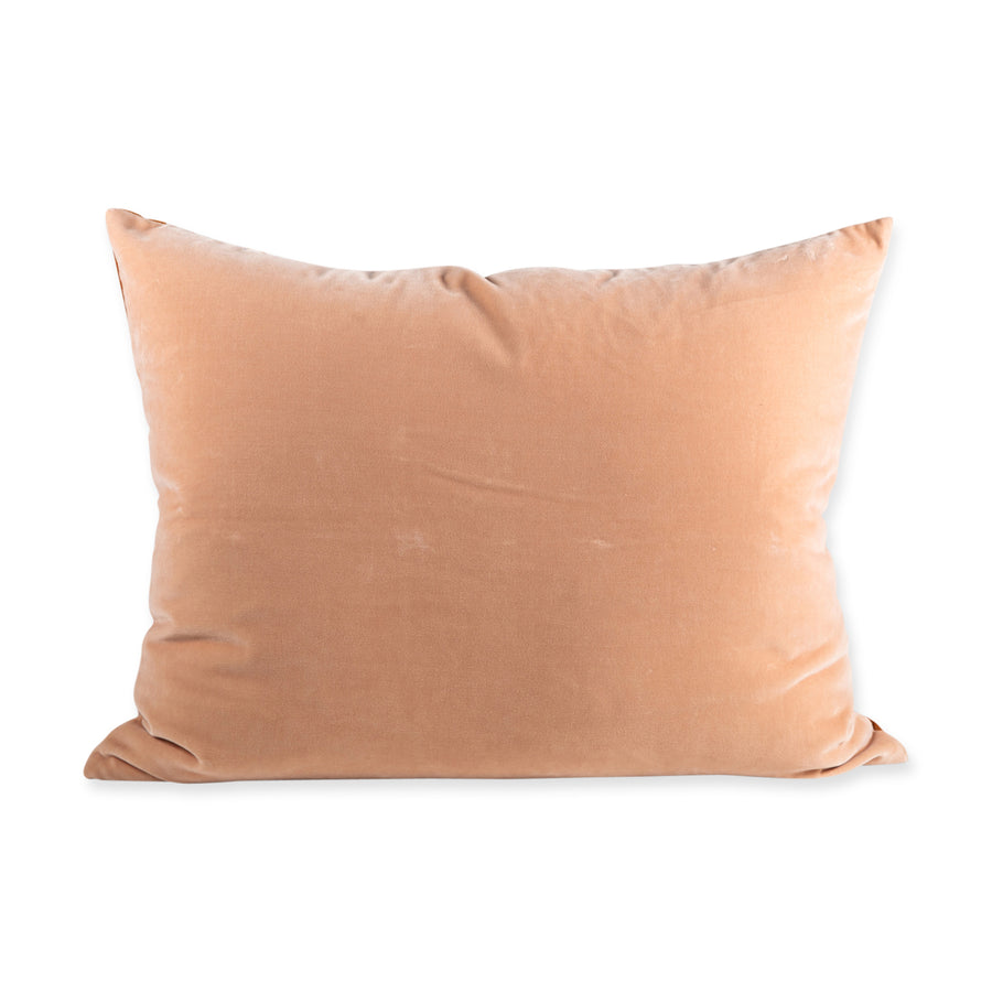 Furbish Studio - Hopkins Velvet Pillow - Peach + Burnt Orange view of pillow back