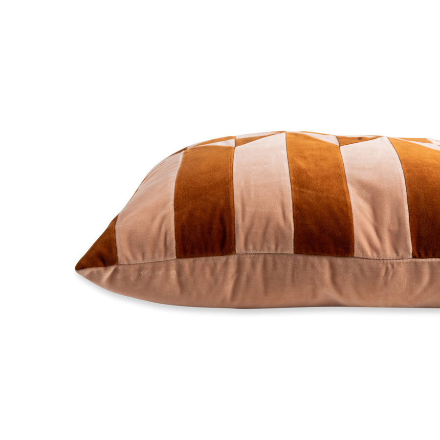 Furbish Studio - Hopkins Velvet Pillow - Peach + Burnt Orange side view