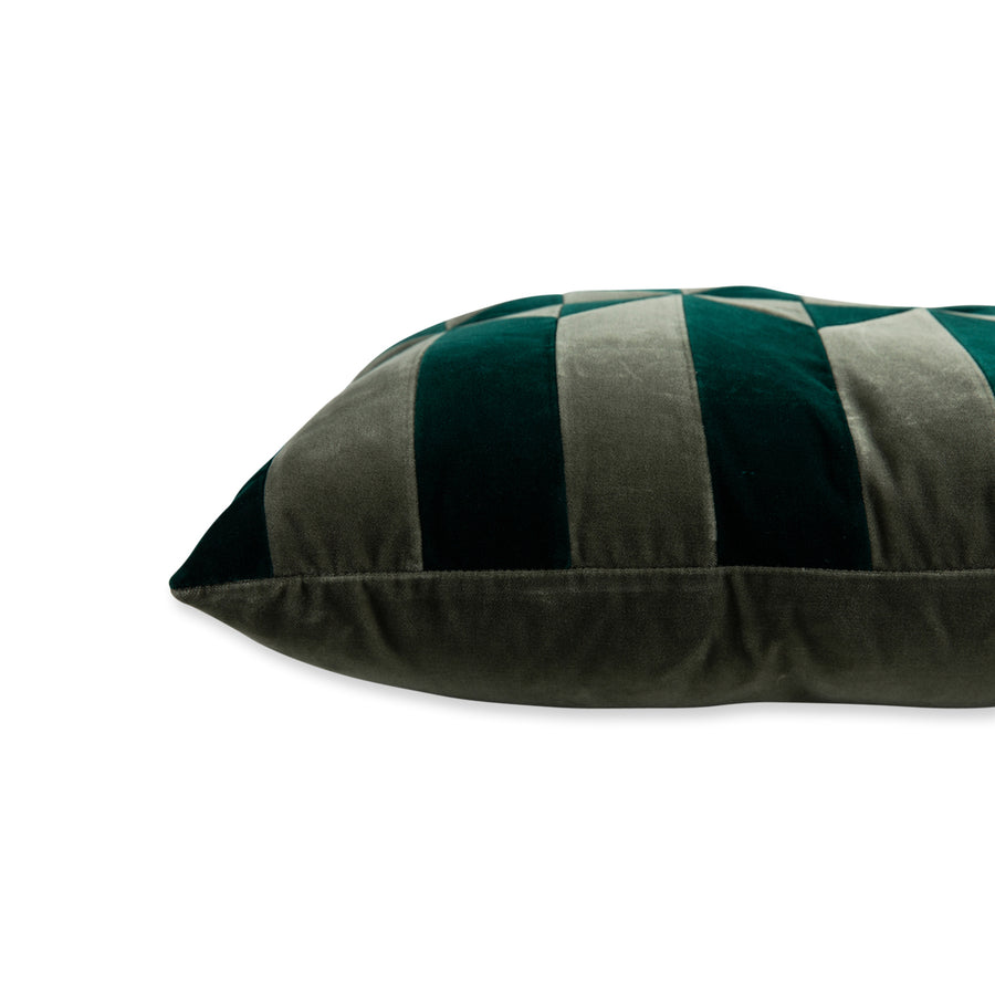 Furbish Studio - Hopkins Velvet Pillow - Spruce + Artichoke side view