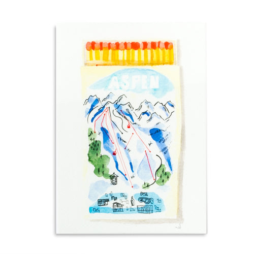 Aspen Matchbook Watercolor Print