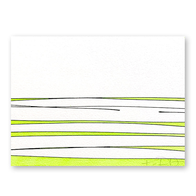 Horizon in Neon Green by Kayce Hughes