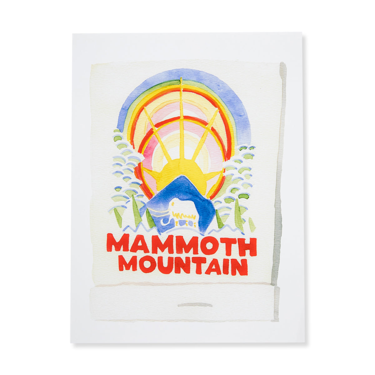 Furbish Studio - Mammoth Mountain Matchbook Watercolor Print unframed