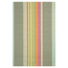 Furbish Studio - Marina Cay Striped Indoor/Outdoor Rug in soft sage, taupe, aqua, and orange