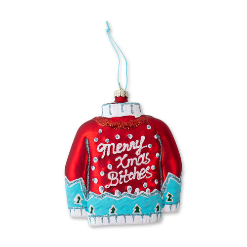 Furbish Studio - Merry Xmas Bitches Christmas Sweater Ornament