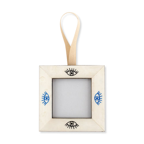 Furbish Studio - Mini Evil Eye Frame Ornament in alternating blue and black images
