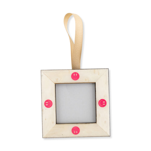 Furbish Studio - Mini Smiley Face Frame Ornament