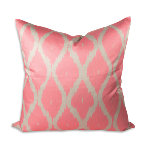 "Neon Pink Lattice 24"" Ikat Pillow"