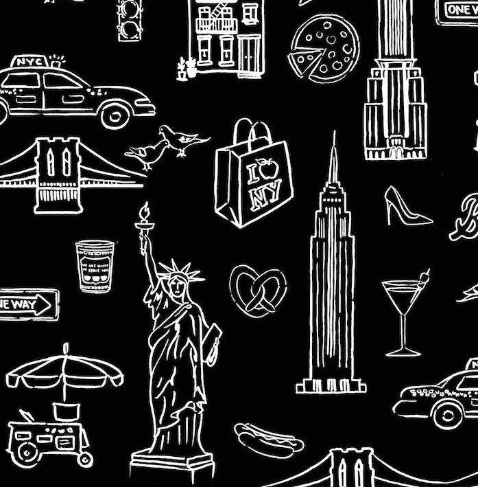 NYC Removable Wallpaper - Black