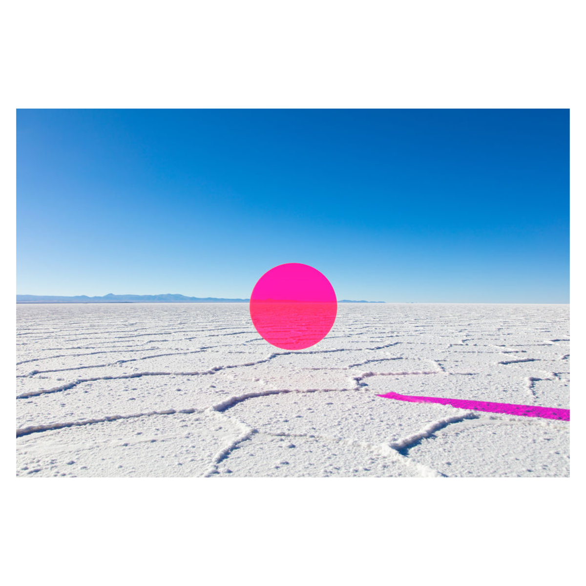 Neon Pink Circle by Gray Malin