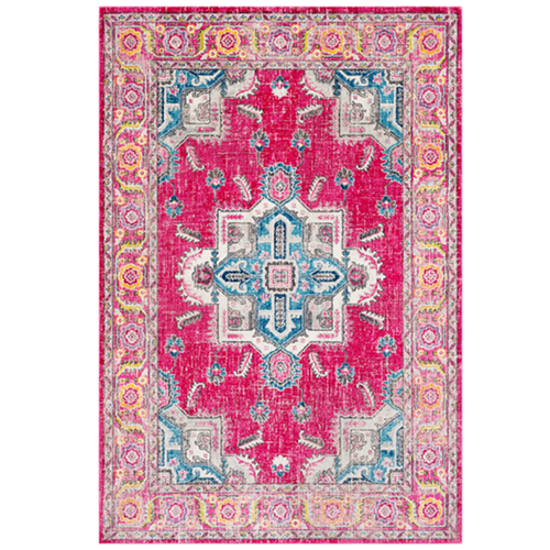 Furbish Stuio - Rio Indoor/Outdoor Kilim Rug in Pink