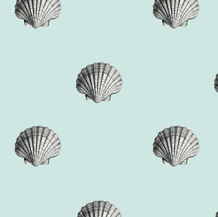 Seashells Removable Wallpaper - Mint