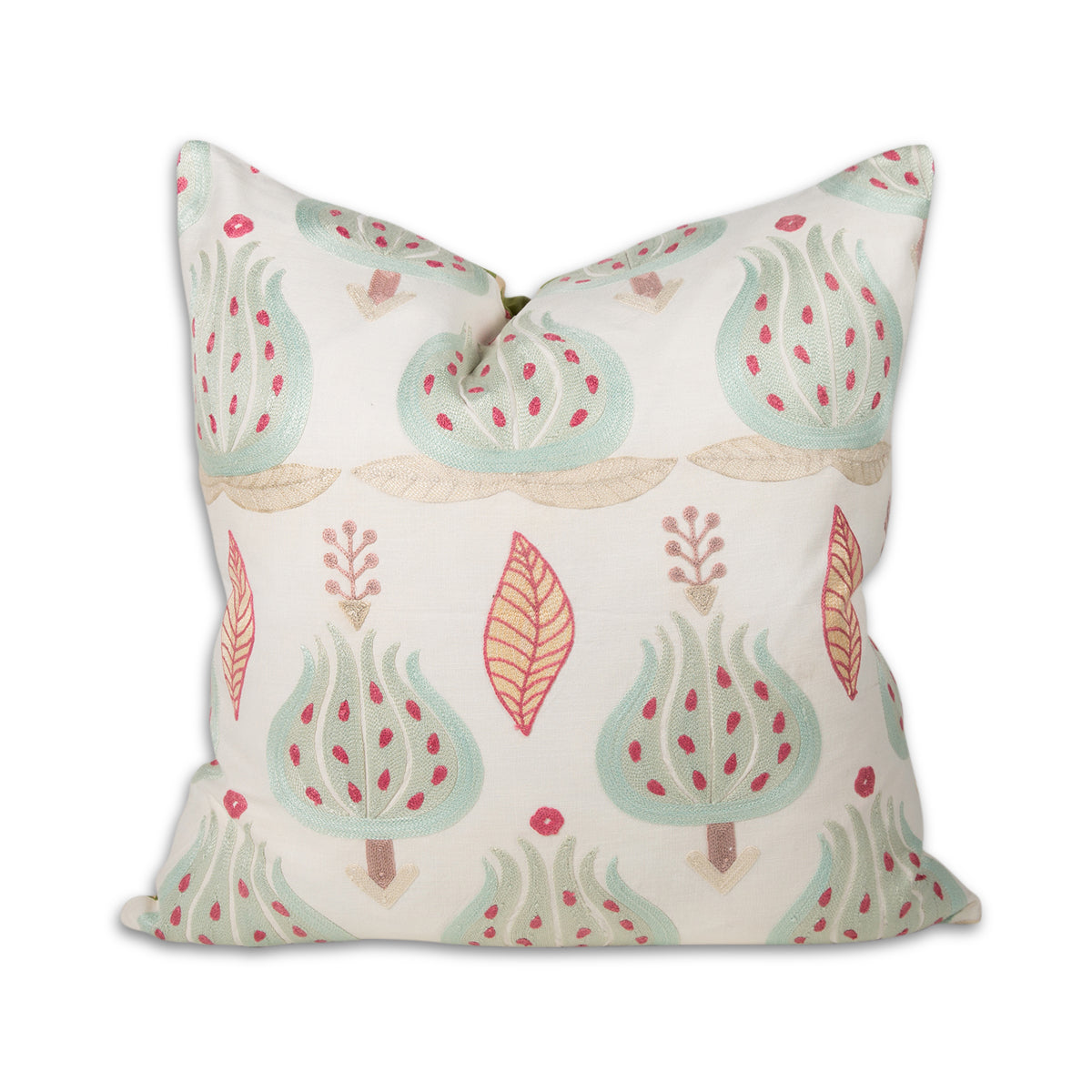 Embroidered Suzani Mint Pillow