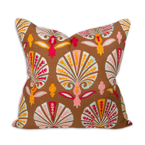 Embroidered Suzani Marigold Pillow