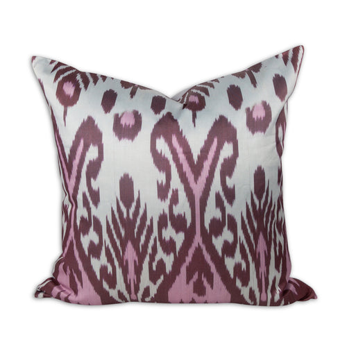 "Wine Swirl 20"" Ikat Pillow"