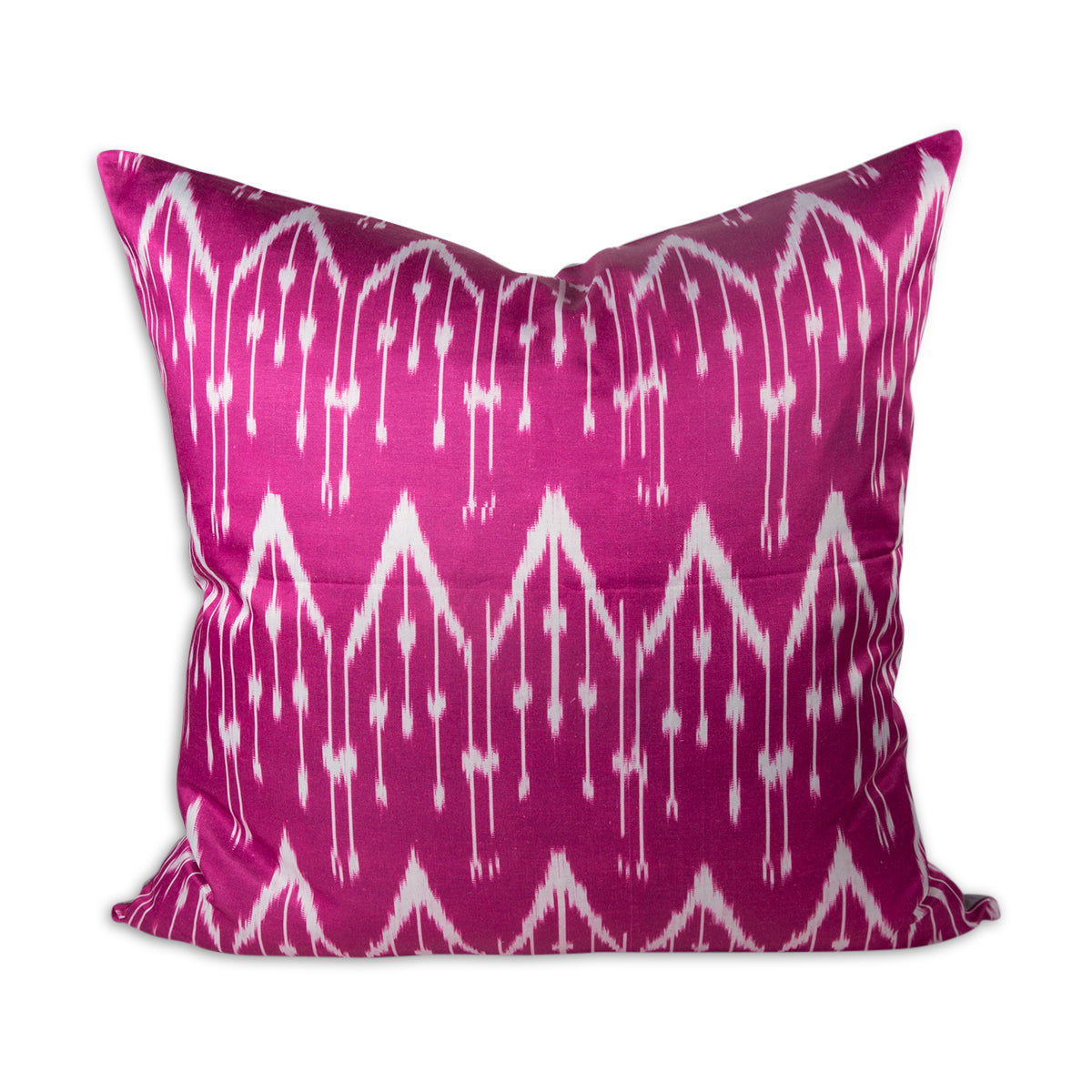 "Raspberry Chevron 24"" Ikat Pillow"