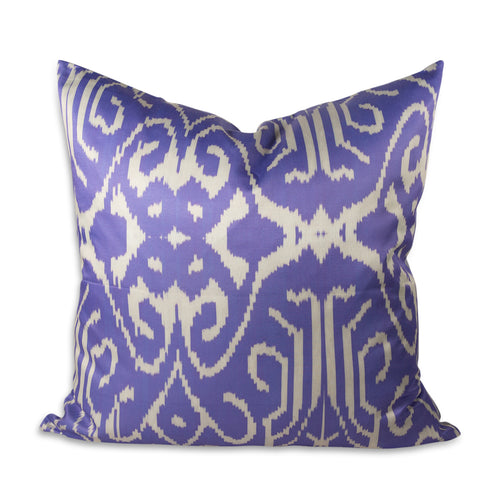 "Lilac Swirl 24"" Ikat Pillow"