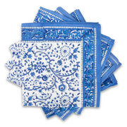 Furbish Studio - Raja Blue Floral Napkins styled in a swirl layout