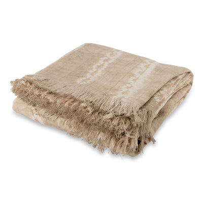 Beige Tie Dye Bed Coverlet