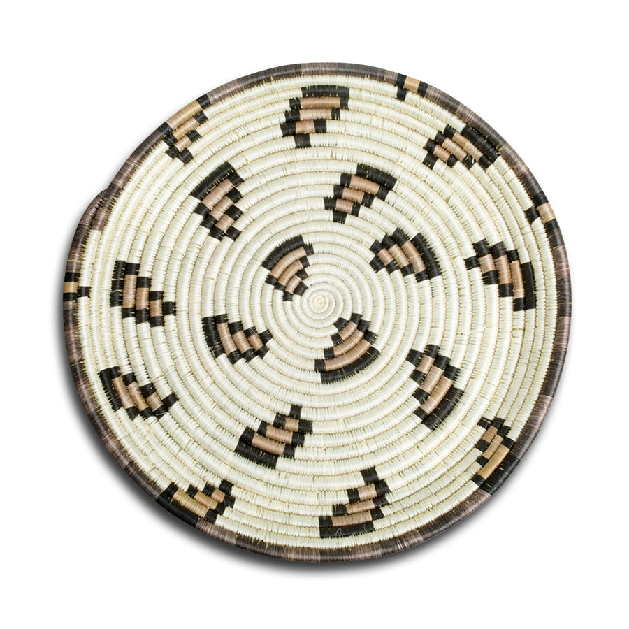 Furbish Studio - Leopard Print Woven Tray top view