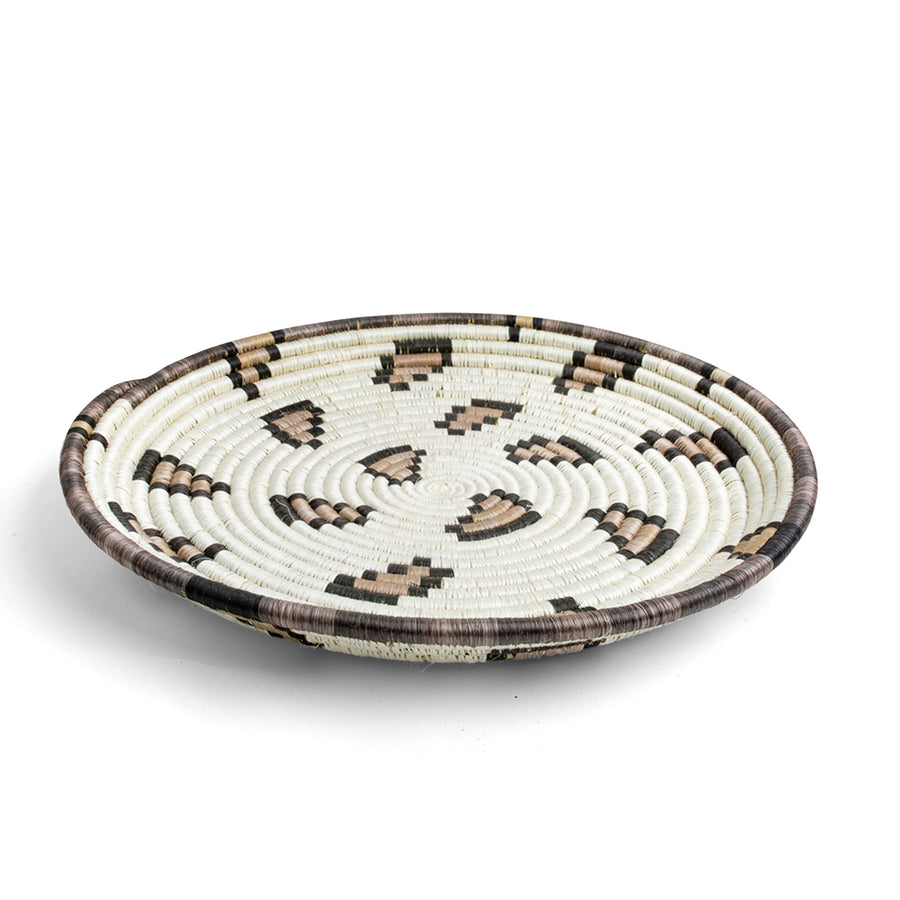 Furbish Studio - Leopard Print Woven Tray side view
