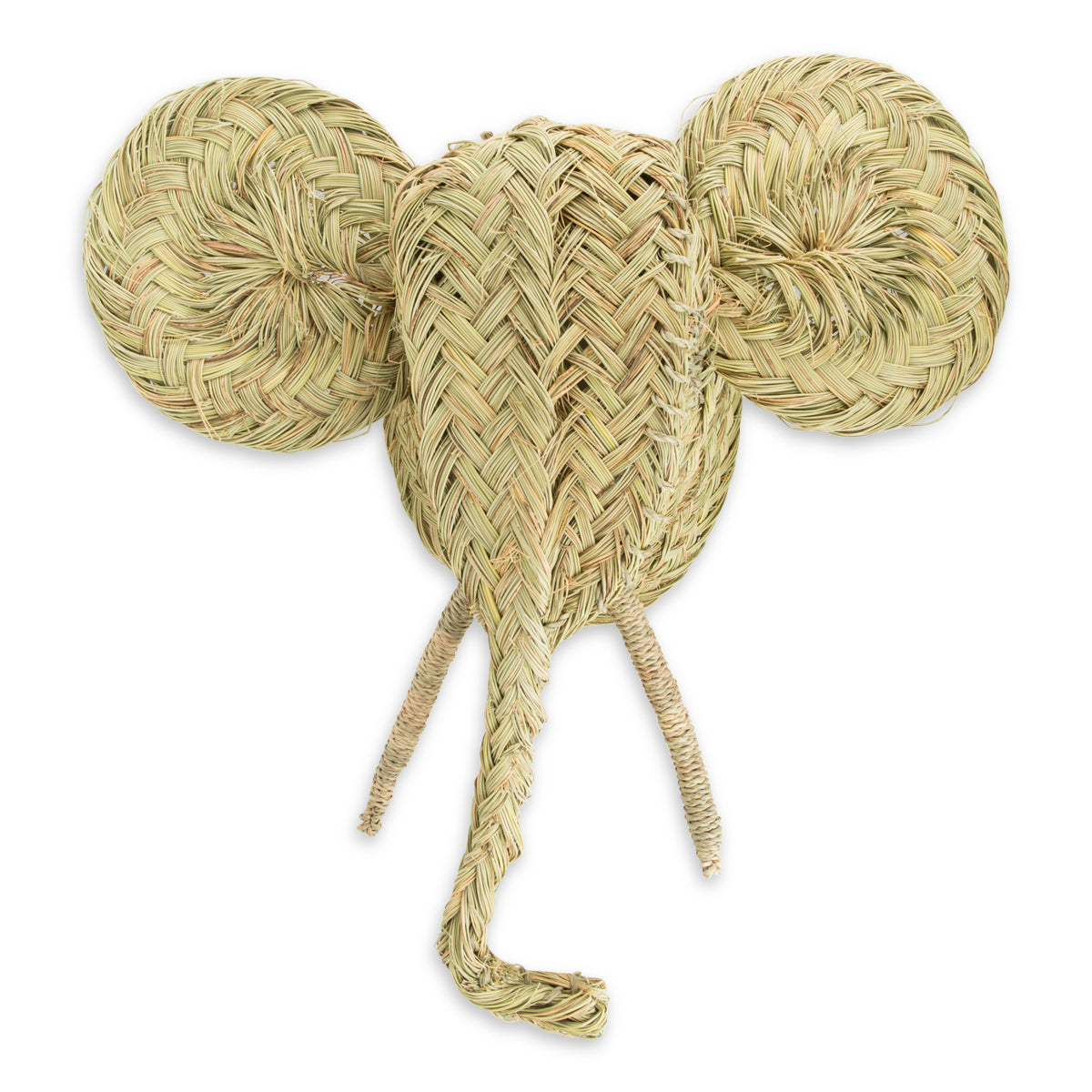 Moroccan Straw Elephant Head