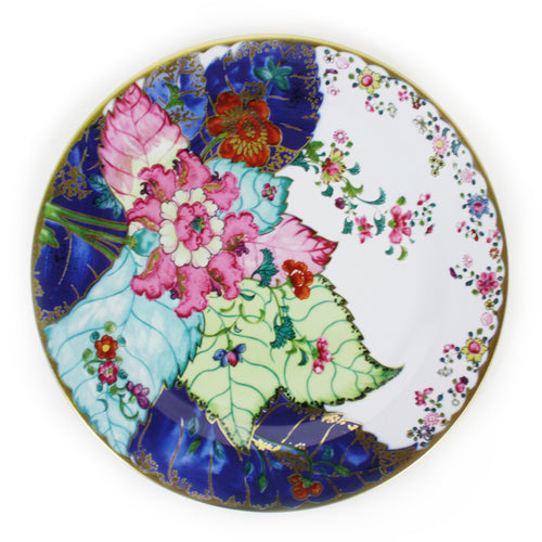 Furbish Studio - Tobacco Leaf Tin Plate with colorful leaf design for use or display