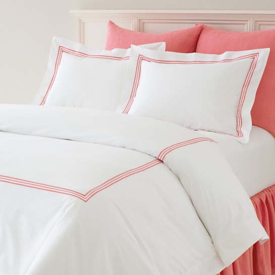Gramercy Duvet Cover - Coral