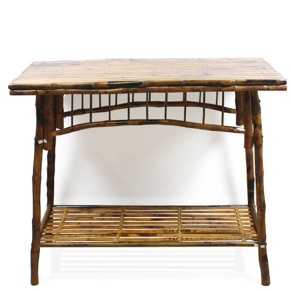 antique tortoise bamboo console bahamas decor